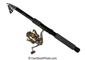 fishing rod - Fishing rod for fishing isolated on white...