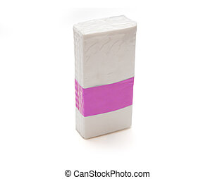 Tissue - wrapped pack of un used tissues