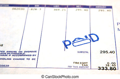 Paid - A paid bill