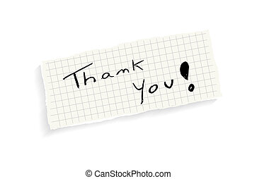 Thank you! Handwriting text. - Thank you! Hand writing text...