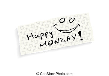 Clip Art Happy Monday Clipart happy monday illustrations and stock art 874 hand writing text on a piece of math paper