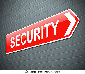 Security sign. - Illustration depicting a sign with a...