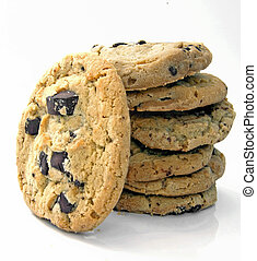 big cookies isolated on white