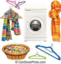towel, scarf, basket, hangers and w - towel, scarf, basket,...