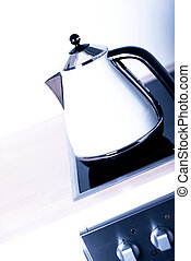 modern electric kettle on cooktop - Nice modern electric...