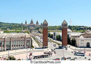 Plaza de Espana in Barcelona, Spain