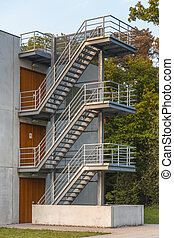 Metal Emergency Escape Stairs