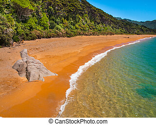 Secluded Beach New Zealand - Isolated Stretch of Deserted...
