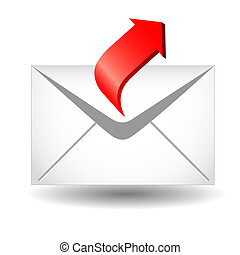 Arrow and envelope