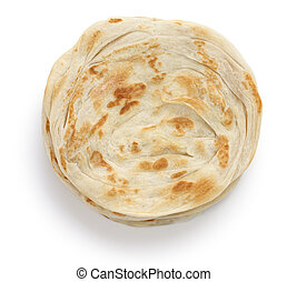 plain paratha - multi layered indian flat bread