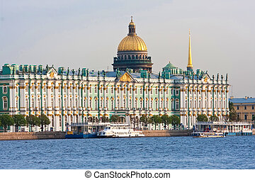 Saint Petersburg - Beatiful view Neva river in Saint...