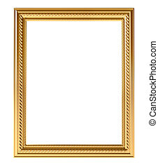 Gold vintage frame - Golden empty frame for your picture