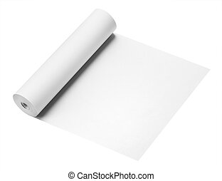 Roll of paper, isolated - Roll of thermal fax paper isolated...
