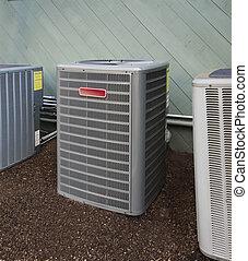 calefacción, enfriamiento, unidad