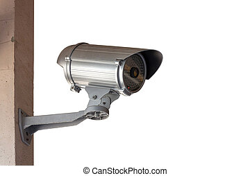 Close Up shooting of CCTV or security camera - Close-Up...