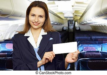 air hostess (stewardess) - series: air hostess (stewardess)...