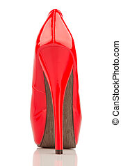 red high heels, single shoe - red high heels, symbol photo...