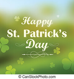 Saint Patricks Day Background - illustration of Saint...