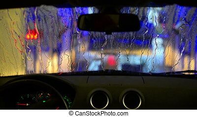 car wash - car going through car wash