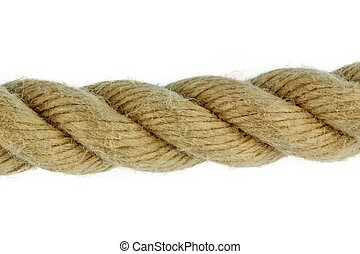 piece of rope - a piece of ropr for a white background