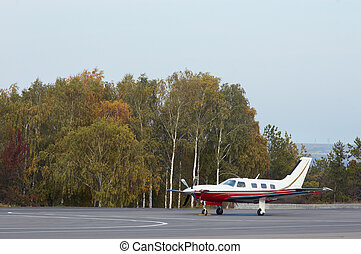 small private aircraft - singel small private aircraft...