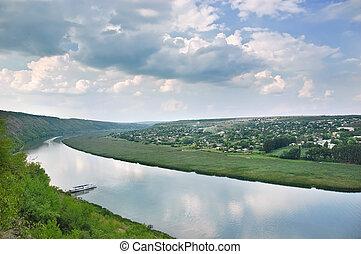 Dniester river, Moldova, near Popenki vilage