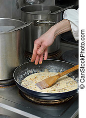 salsa, preparación