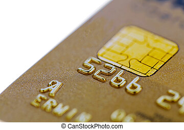 golden credit card - a gold credit card. symbolic photo for...