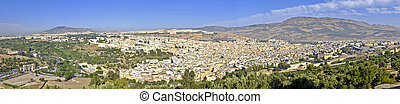 Panorama from the city Fes in Morocco Africa