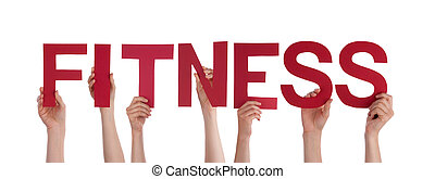 Hands Holding the Word Fitness