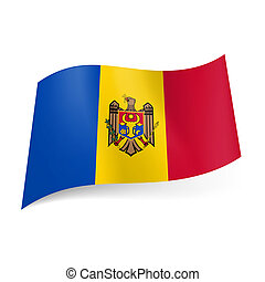 State flag of Moldova - National flag of Moldova: blue,...