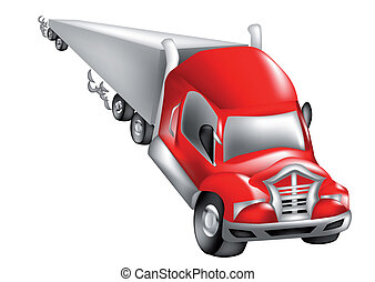 abstract nonexistent truck isolated on a white background