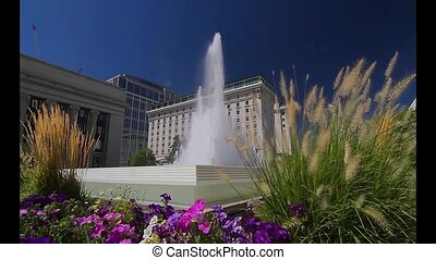 Fountain in Salt Lake City - Fountain, Temple Square, S...