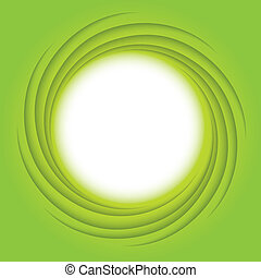 Green energy spiral - Eco green energy, symbol of strength...