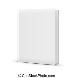 Blank White Standing Book Template Vector Illustration