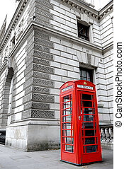 London telephon box - London background with a red Phone box...