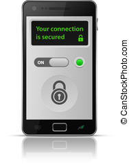 Smartphone secure connection