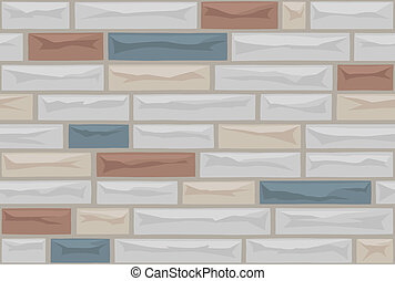 Formstone Pattern - A seamless pattern of faux stone...