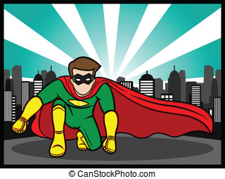 Superhero Pose - An illustration of a superhero
