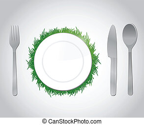 natural food concept illustration design over a white...