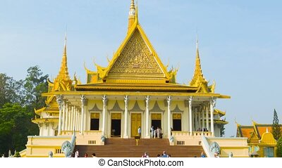 Phnom Penh Cambodia The throne hall of Royal Palace - Video...