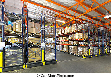 Mobile shelving system - Mobile roller shelving system in...