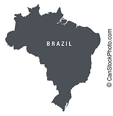 black and white map of Brazil