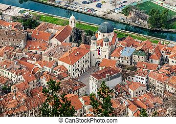 Old town Kotor, Montenegro. Boka kotorska. - Kotor old town...