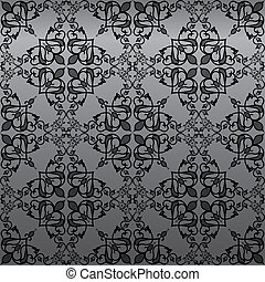 Seamless vintage damask wallpaper background - Seamless...