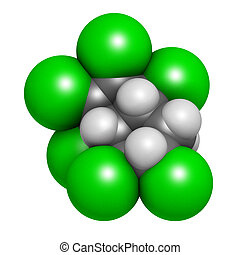 Chlordane banned pesticide molecule. Highly toxic and...