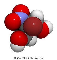 Bronopol preservative molecule. Possibly carcinogenic...