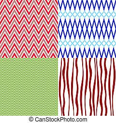 Set colorful vintage patterns