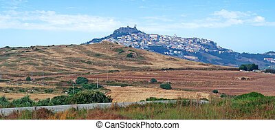 small town - landscape of a Sardinian small town