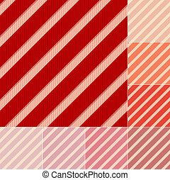 seamless red stripes pattern - seamless red orange pink...